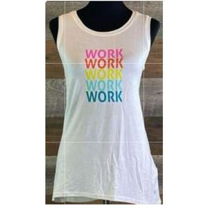 Lularoe M Strong Relaxed Workout Tank NWT
